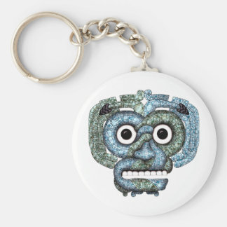Aztec Mosaic Tlaloc Mask Keychain