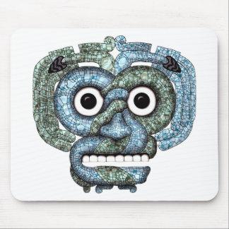 Aztec Mosaic Tlaloc Mask Mouse Pad