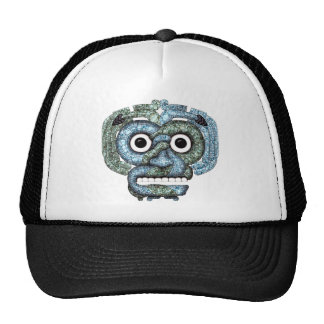 Aztec Mosaic Tlaloc Mask Trucker Hat
