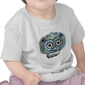 Aztec Mosaic Tlaloc Mask T Shirts