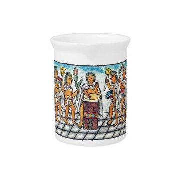 Aztec Themed Aztec Musicians Drink Pitcher