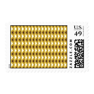 Aztec Native American Tribal Gold Brown Triangles Postage