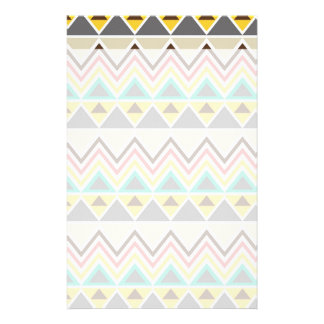 Aztec Native American Tribal ZigZags Triangles Stationery