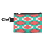 Aztec Native American Turquoise and Pink Pattern Accessory Bags