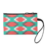 Aztec Native American Turquoise and Pink Pattern Coin Purse