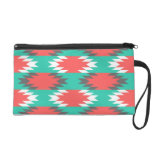Aztec Native American Turquoise and Pink Pattern Wristlet Purses