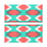Aztec Native American Turquoise and Pink Pattern Canvas Print