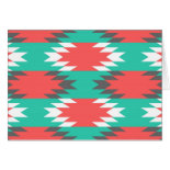 Aztec Native American Turquoise and Pink Pattern Card