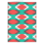 Aztec Native American Turquoise and Pink Pattern Cards