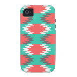 Aztec Native American Turquoise and Pink Pattern Case-Mate iPhone 4 Cover