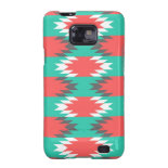 Aztec Native American Turquoise and Pink Pattern Samsung Galaxy SII Cover