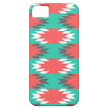 Aztec Native American Turquoise and Pink Pattern iPhone 5 Cover
