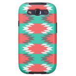 Aztec Native American Turquoise and Pink Pattern Samsung Galaxy SIII Covers