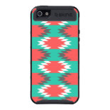 Aztec Native American Turquoise and Pink Pattern iPhone 5 Covers