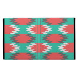 Aztec Native American Turquoise and Pink Pattern iPad Folio Cover