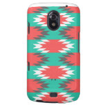 Aztec Native American Turquoise and Pink Pattern Samsung Galaxy Nexus Case