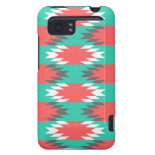 Aztec Native American Turquoise and Pink Pattern HTC Vivid / Raider 4G Case