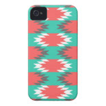 Aztec Native American Turquoise and Pink Pattern iPhone 4 Case