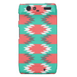 Aztec Native American Turquoise and Pink Pattern Droid RAZR Case