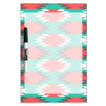 Aztec Native American Turquoise and Pink Pattern Dry-Erase Whiteboards