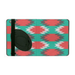 Aztec Native American Turquoise and Pink Pattern iPad Cover