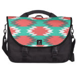 Aztec Native American Turquoise and Pink Pattern Bags For Laptop