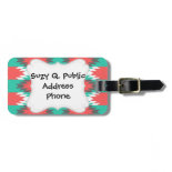 Aztec Native American Turquoise and Pink Pattern Tag For Luggage