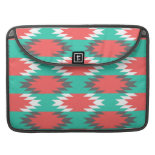 Aztec Native American Turquoise and Pink Pattern Sleeves For MacBooks