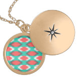 Aztec Native American Turquoise and Pink Pattern Custom Jewelry