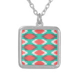 Aztec Native American Turquoise and Pink Pattern Jewelry