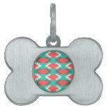 Aztec Native American Turquoise and Pink Pattern Pet ID Tag