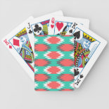 Aztec Native American Turquoise and Pink Pattern Poker Deck