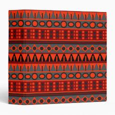 Aztec native pattern 3 ring binder