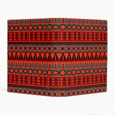 Aztec native pattern mini binder