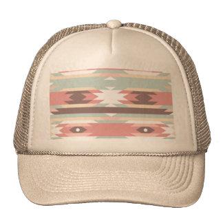Aztec native pattern multi natural colors modern hats