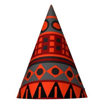 Aztec native pattern party hat