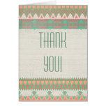 Aztec Native Peach/Aqua Thank You Cards