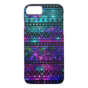 Aztec Themed Aztec Nebula Pink Blue Case-Mate iPhone 7 Case