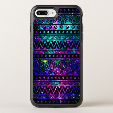 Aztec Themed Aztec Nebula Pink Blue OtterBox Symmetry iPhone 8 Plus/7 Plus Case