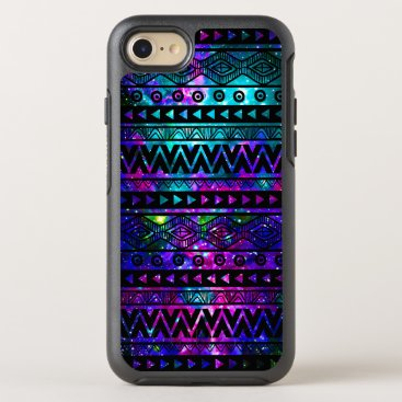 Aztec Themed Aztec Nebula Pink Teal Blue OtterBox iPhone 7 Case