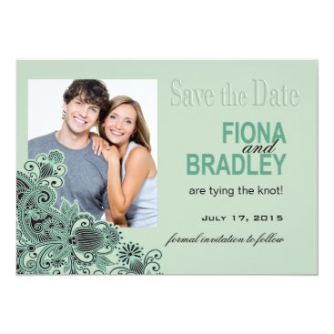 Aztec Themed Aztec Paisley Save the Date mint Card