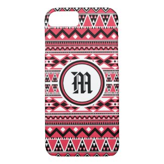 Aztec Pattern BDPW (Personalize Monogram) iPhone 7 Case