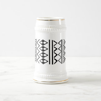 Aztec pattern beer stein