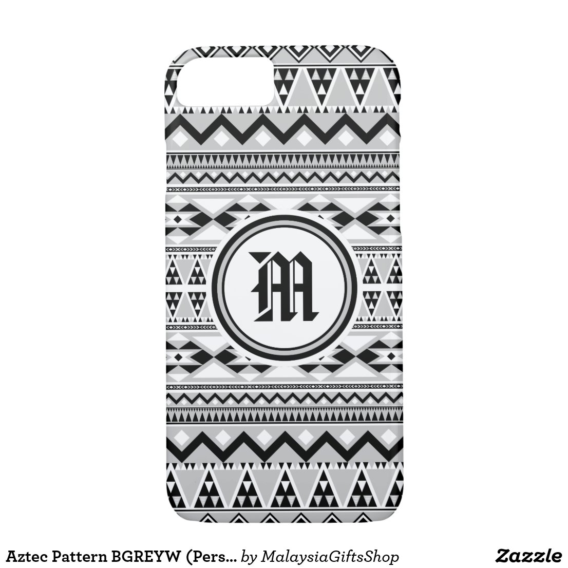 Aztec Pattern BGREYW (Personalize Monogram) iPhone 7 Case