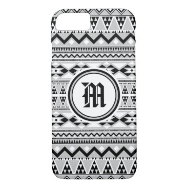 Aztec Themed Aztec Pattern BGREYW (Personalize Monogram) iPhone 8/7 Case