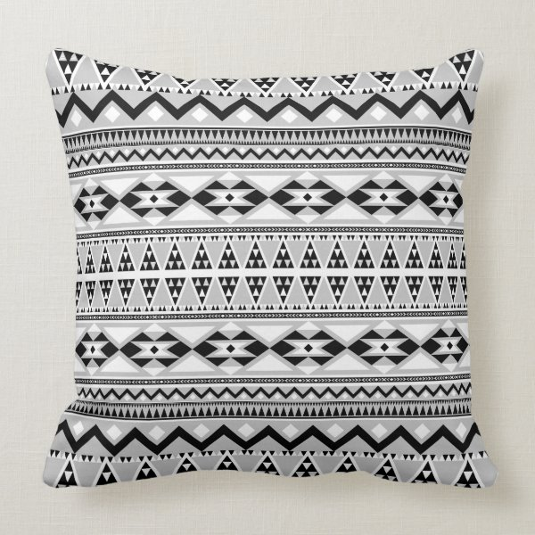 Aztec Pattern BGREYW Throw Pillow