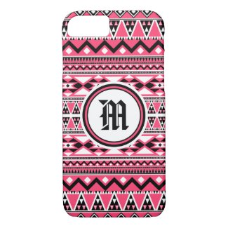 Aztec Pattern BPW (Personalize Monogram) iPhone 7 Case