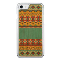 Aztec Pattern Carved iPhone 7 Case