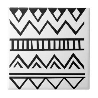 Aztec pattern ceramic tile