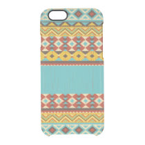 Aztec Pattern Clear iPhone 6/6S Case